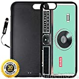 Custom iPhone 6/6S Case (Kodak Instamatic Mint) Edge-to-Edge Rubber Black Cover with Shock and Scratch Protection | Lightweight, Ultra-Slim | Includes Stylus Pen by INNOSUB