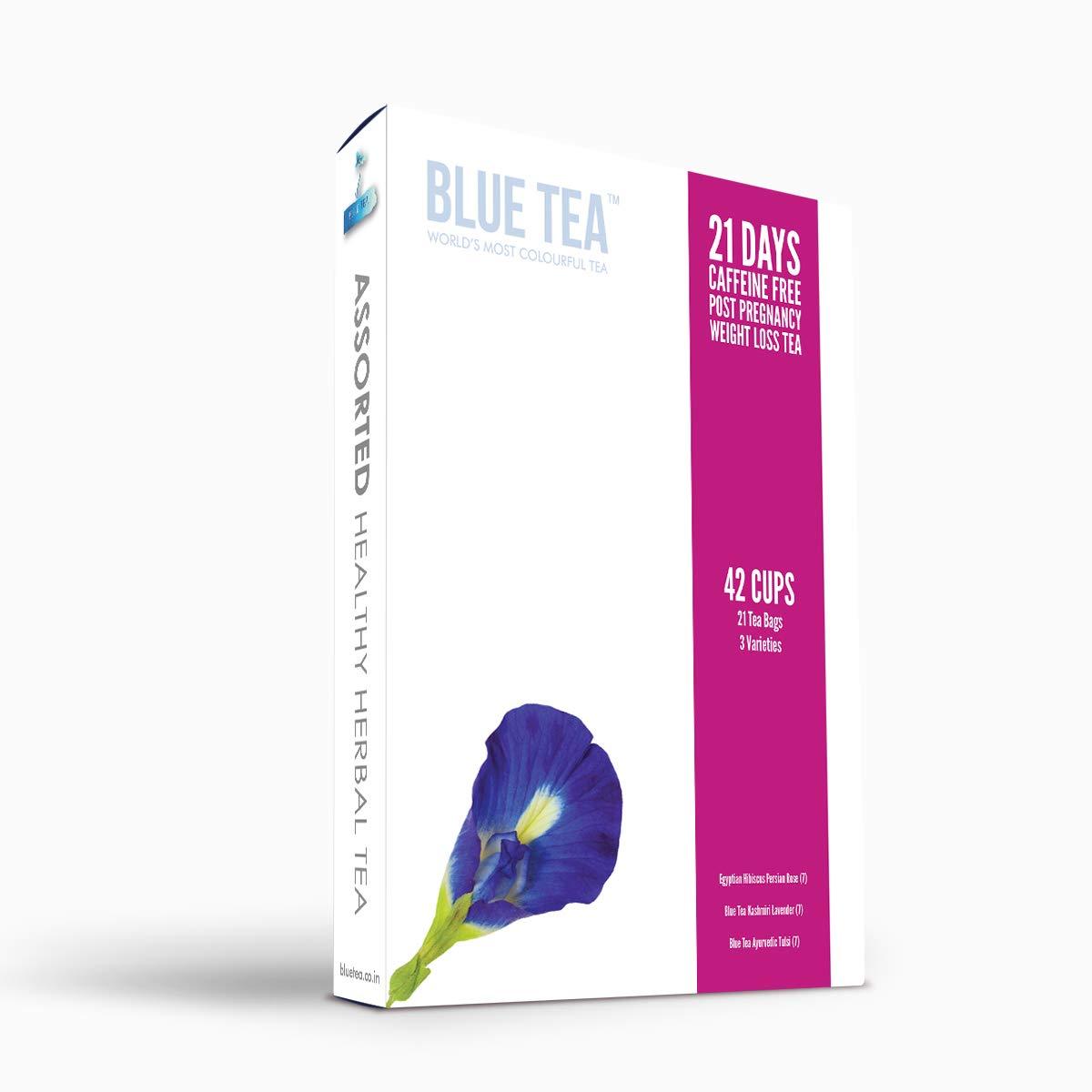 Blue Tea 21 Days Caffeine Free Post Pregnancy Weight Loss Tea Zero