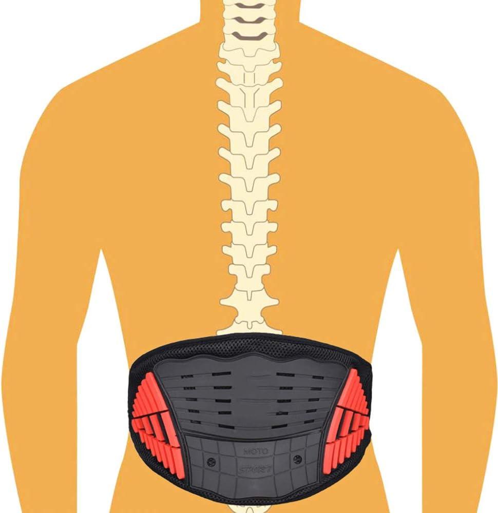 Kompressionsriemen f/ür Ischias Skoliose Bandscheibenvorfall Riding Back Pain Relief Lendenwirbelst/ütze HBRT Motorrad-R/ückengurt