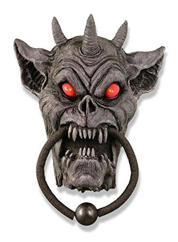 Gargoyle Animated Doorknocker Halloween Prop]()