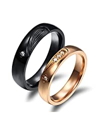 Global Jewelry Amazing Titanium Stainless Steel We Love Each Other Wedding Band Set Anniversary/Engagement/Promise/Couple Ring Best Gift!