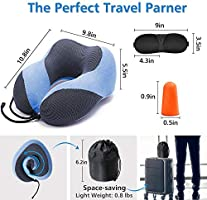 Amazon.com: Almohada de viaje para el cuello, para avión ...