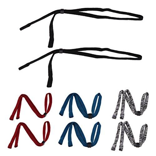 2pcs de Gafas Nylon Elásticas para Correas de negro Unisexo Sharplace Sol de Adornos Accesorios dpqg1Z