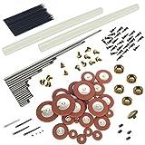 Jili Online 25 Pieces Saxophone Pad Set+Springs+Screws for Alto Sax Saxophone Replacement Parts
