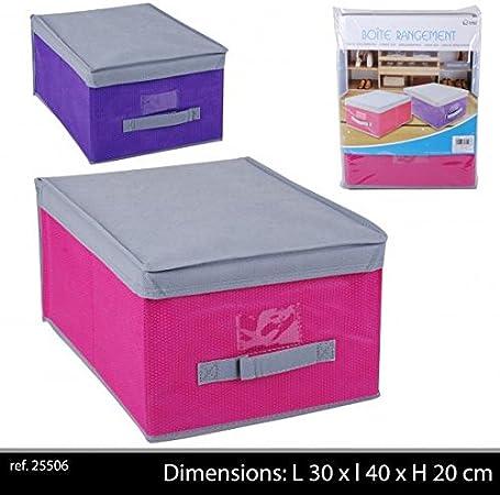 Caja de almacenaje 30 x 40 x 20 color rosa 1 pieza: Amazon.es: Hogar