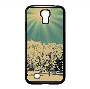 Sunny Winter Day Watercolor style Cover Samsung Galaxy S4 I9500 Case (Winter Watercolor style Cover Samsung Galaxy S4 I9500 Case)