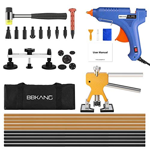 BBKANG Paintless Dent Repair Removal Remover Tools Kit- 60Pcs Car Dent Puller Kit Easy to Use for Small Dent Door Ding Hail Damage - Ding Repair Dent