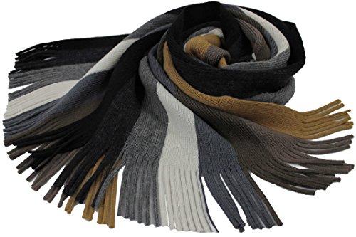 Rotfuchs Scarf - knitted, white brown 100% wool (Merino) by Rotfuchs (Image #3)