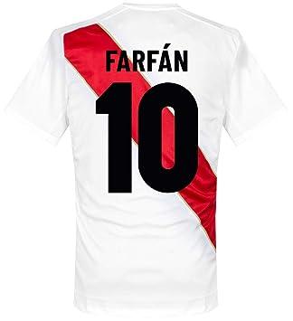 2c0b3472b Umbro Peru Home Farfan 10 Shirt 2018 2019 (Fan Style Printing) - XXL ...