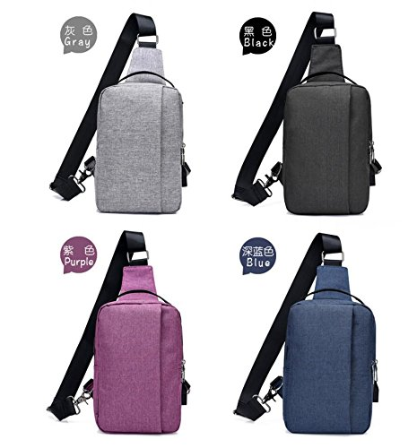 Black Package Usb Leisure Interface Outdoor Dingsheng Body Bag Crossbody Oxford Charging Packs Pockets Shoulder For Chest Port Cross With Sling Backpack 4UxHq4R