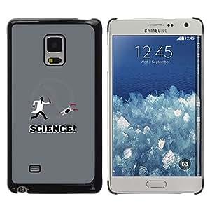 Caucho caso de Shell duro de la cubierta de accesorios de protección BY RAYDREAMMM - Samsung Galaxy Mega 5.8 - Apertura Laboratorio de Ciencias divertido juego