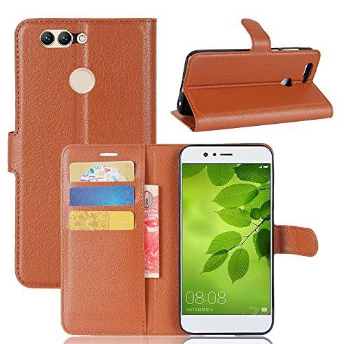 Manyip Funda Huawei Nova 2 Plus,Caja del teléfono del cuero,Protector de Pantalla de Slim Case Estilo Billetera con Ranuras para Tarjetas, Soporte Plegable, Cierre Magnético(JFC6-4) I