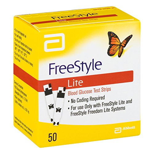 Image result for Abbott FreeStyle Lite Glucometer With Strips 50 Pcs