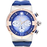 Mulco M10 Dome Gents Collection Watch - Premium Analog Display - 100% Silicone Band Watch - Chronograph - Water Resistant - Stainless Steel Fashion (Blue)