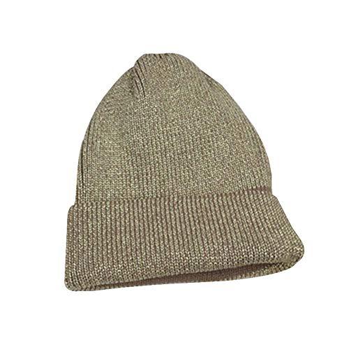 抽象衝突する不快なシルバースレッドニットハットファッションニットキャップ厚手暖かい冬の帽子 [ゴールデン]