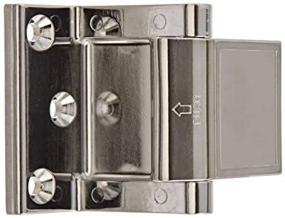 "Rockwood PDL.26 Zinc Die Cast Privacy Door Latch, 1-1/2"" Width x 2-13/64"" Length, Polished Chrome Plated Finish"