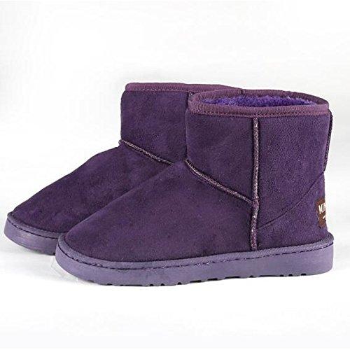 Purple US6   EU36   UK4   CN36 Purple US6   EU36   UK4   CN36 HSXZ Women's shoes Polyamide Fabric Winter Fall Snow Boots Boots Flat Mid-Calf Boots for Casual Pink Purple