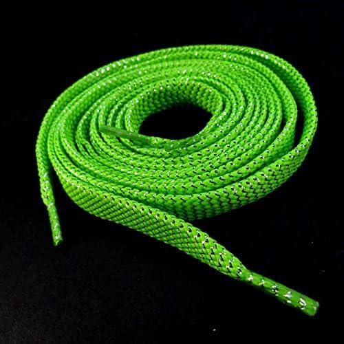 靴ひも(靴紐) シューレース キラキラ平紐 グリーン緑 ETSR-202【くつひも SHOELACES】
