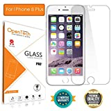 OpenTech Apple iPhone 8 Plus Tempered Glass Screen Protector with Installation kit (2.5 D and Full Transparent)