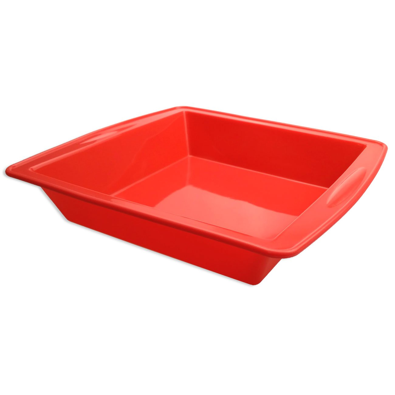 "Silicone Cake Pan, SILIVO 8.5""x 8.5""x2"" Nonstick Bakeware Baking Mould Brownie Pan for bread Chocolate Pie Pizza fudge and brownies"