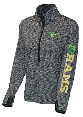 NCAA Colorado State Rams Women's Front Zip Space Dye, Large, (Colorado Womens Zip Hoodie)