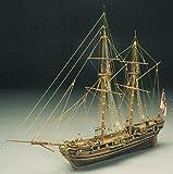Mantua modèles course cheval 1754 bombe Ketch bois modèle bateau Kit échelle 1/47