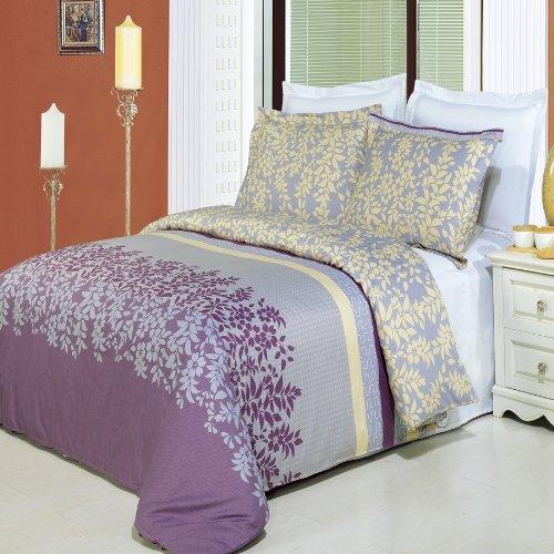 Brielle 3-piece Full / Queen Comforter Cover (Duvet-Cover-Set) 100 % Egyptian Cotton 300 TC