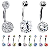BodyJ4You 12 Pieces Belly Button Ring Piercing Jewelry Gift Box