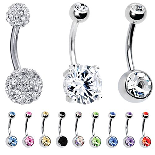 cute belly rings cheap - 6