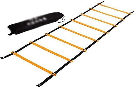 UanPlee Fútbol/Tenis/Baloncesto Y Otros Deportes Escalera De Formación De 5 M (16,4 Pies) 10 Ritmo De Formación De Rejilla Escalera De Formación De Capacidad De Equilibrio Escalera De Formación: Amazon.es: Deportes y