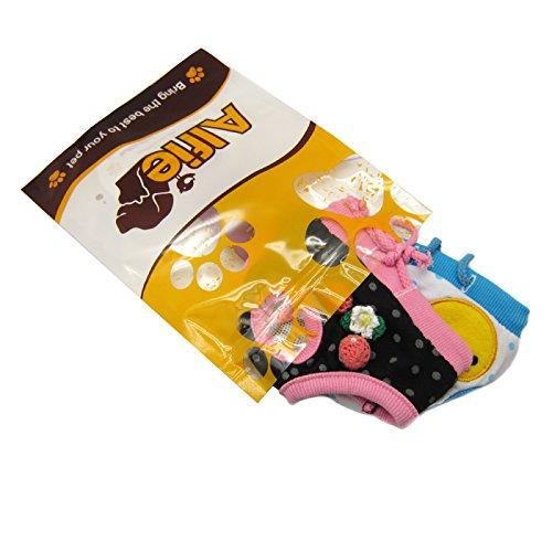 Alfie Pet Apparel - Zoe Diaper Dog Sanitary Pantie 2-Piece Set - Colors: Blue and Black, Size: L (for Girl Dogs)