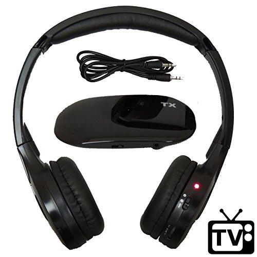 Wireless TV Headphones [No Latency] Hearing Aid - RF FM Stereo, 3.5mm Jack Dual Channel AUTOTAIN CLOUD