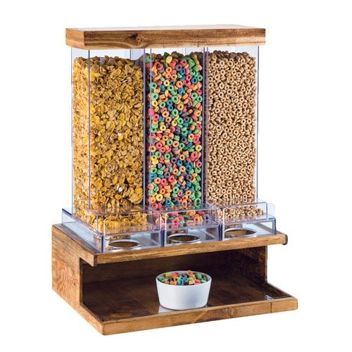 Cal-Mil 3434-99 Madera 3 Section Cereal Dispenser, 24'' Height, 18'' Width, 14'' Length by Cal Mil