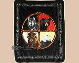 Mission Del Rey Native Style Luxury Plush Blanket 75''x94''- Medicine Wheel