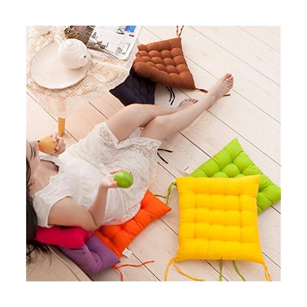AGDLLYD Cuscino per Sedia, Cuscini per Giardino, per Dentro o Fuori,40x40x5 cm Cuscini da Sedia Trapuntati,Disponibile… 5 spesavip
