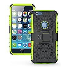 myiPhone 6 Plus Case, iPhone 6/6S Plus Armor cases (6+) Tough Rugged Shockproof Armorbox Dual Layer Hybrid Hard/Soft Slim Protective Case (5.5 inch) by Cable and Case - Green Armor Case