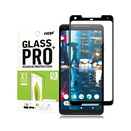 for Google Pixel 2 Tempered Glass Screen Protector,Slaiver[Full Coverage][Anti-Scratch][Bubble-Free][Ultra-Clear] Tempered Glass Screen Protector for Google Pixel 2(Black)