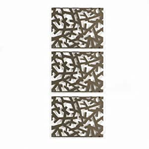 Umbra Arbera 9-Inch-by-12-Inch Metal Wall Decor Tiles, Set ...