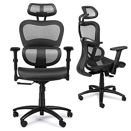 Mysuntown Office Mesh Chair, Ergonomic Task Chair with...