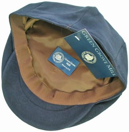 GREEN GROVE グリーングローブウェーバー 男性用 帽子 ハンティングキャップ・ハンチングキャップ ツイード Moleskin ネイビー HCMS1 スコットランド製