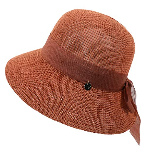 HYIRI Hip-Hopping Women Fashion Floppy Foldable Ladies Women Straw Beach Sun Summer Hat -