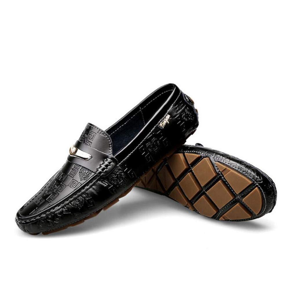 Herren Lederschuhe Sommer Herbst Komfort Loafers & Slip-Ons Slip-Ons Slip-Ons Wanderschuhe Fashion Driving Schuhe, Casual Faule Schuhe, Schwarz, Blau, weiß (Farbe   Schwarz, Größe   43) 287f9c