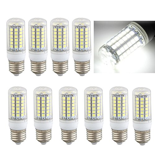 10 x E27 8W 69 LEDs 5050 SMD Ampoule Lampe Spot Maïs Light Blanc 6500K 500LM =60W