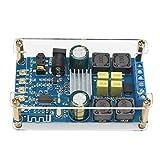 Bluetooth Amplifier Board, DROK Digital Amplifier Wireless BT 3.0 4.0 4.1 Audio Amp Board Headphone 2 Channel 50W+50W Small Amplifier Module with Case