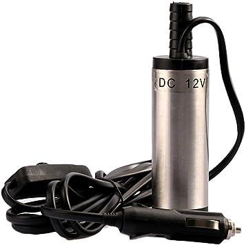 Sunlera 12V DC Bomba de Transferencia de 38 mm Mini Aceite Combustible Diesel eléctrico de la Bomba de Agua Sumergible Autocaravana Acero Inoxidable: Amazon.es: Hogar