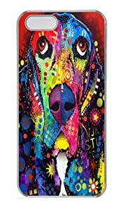 iPhone 5S Case, iPhone 5S Cases -basset hound Custom PC Hard Case Cover for iPhone 5/5S White