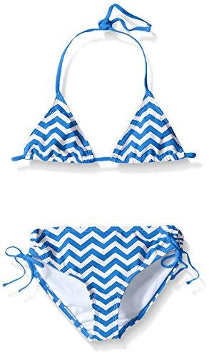 Kanu Surf Big Girls' Alexa Beach Sport 2-Piece Bikini Swimsuit, Royal Chevron, 14 (For Cute 13 Bikinis)