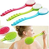 Bestrice New Long Handled Body Bath Shower Back Brush Scrubber Massager Disability Helper (Green)