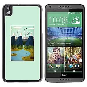 """Pulsar Snap-on Series Teléfono Carcasa Funda Case Caso para HTC DESIRE 816 , Estado montañas de invierno impresiones Usa"""""""