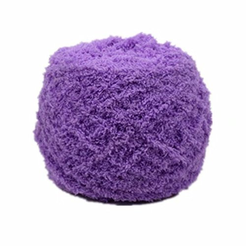 Celine lin One Skein Super Soft Warm Coral Fleece Fluffy Faux Fur Eyelash Yarn Knitting Yarn Baby Blanket Yarn 100g,Purple